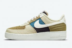 Cheap Nike Air Force 1 Low Toasty Brown Kelp Sail-Rattan-Cave Purple 2021 For Sale DC8744-301