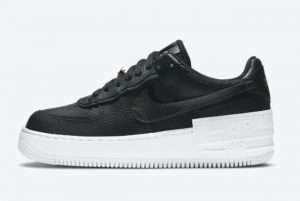 Cheap Nike Air Force 1 Shadow Black White Gold 2021 For Sale DC4459-001