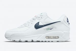 Cheap Nike Air Max 90 Perforated Toe White 2021 For Sale DH1316-101