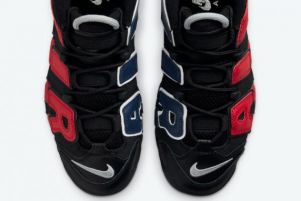 Cheap Nike Air More Uptempo GS Black Red Navy 2021 For Sale DM0017-001-3