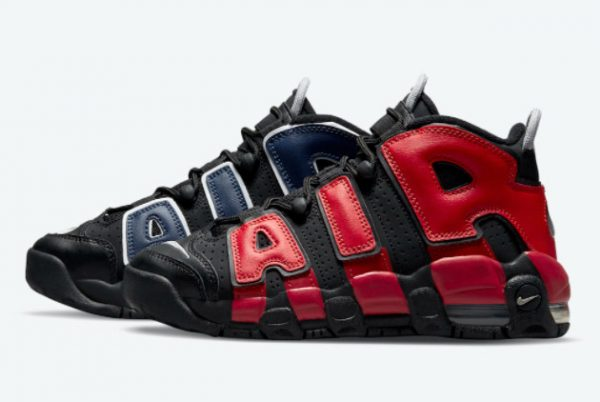 Cheap Nike Air More Uptempo GS Black Red Navy 2021 For Sale DM0017-001