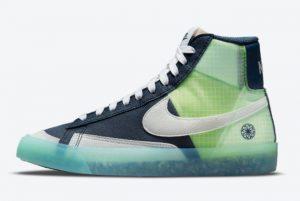 Cheap Nike Blazer Mid GS Rest to Zero Armory Navy/Summit White-Glacier Ice-White 2021 For Sale DO2699-400