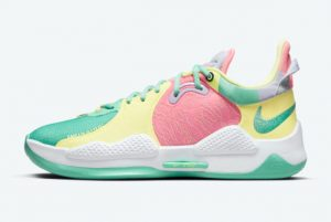Cheap Nike PG 5 Daughters Green Glow White-Sunset Pulse-Black 2021 For Sale CW3143-301