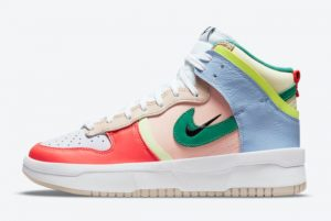 Cheap Nike WMNS Dunk High Rebel Cashmere/Green Noise-Pale Coral 2021 For Sale DH3718-700