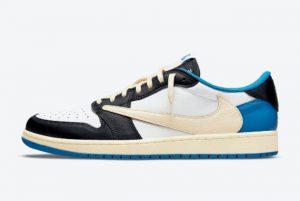 Cheap Travis Scott x Fragment x Air Jordan 1 Low OG Military Blue 2021 For Sale DM7866-140