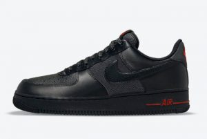 Latest Nike Air Force 1 Low Black Red 2021 For Sale DO6389-001
