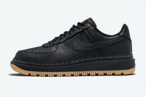 Latest Nike Air Force 1 Luxe Black Gum Black/Black-Bucktan-Gum Yellow 2021 For Sale DB4109-001