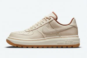 latest nike air force 1 luxe pecan pearl white pale ivory pecan gum yellow 2021 for sale db4109 200 300x201