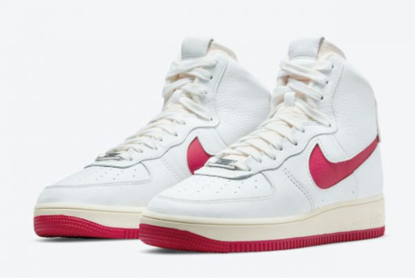 Latest Nike Air Force 1 Strapless Summit White/Gym Red-Summit White 2021 For Sale DC3590-100-2