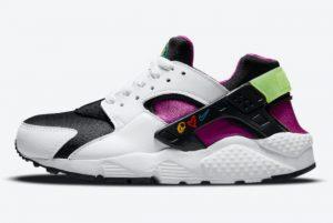 Latest Nike Air Huarache GS Peace Love Swoosh 2021 For Sale DM8156-100