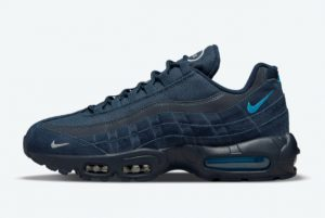 Latest Nike Air Max 95 Navy Blue White Black 2021 For Sale DO6704-400