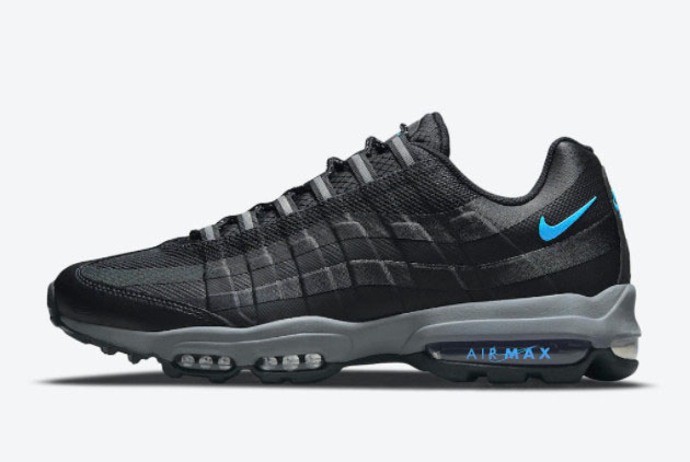 Latest Nike Air Max 95 Ultra Black/Bright Blue 2021 For Sale ...