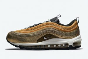 Latest Nike Air Max 97 Cracked Gold 2021 For Sale DO5881-700