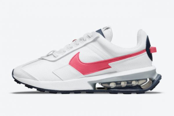 latest nike air max pre day archeo pink white archeo pink thunder blue pollen 2021 for sale dm0124 100 600x402