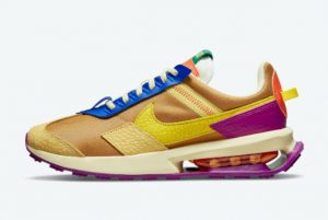 Latest Nike Air Max Pre-Day Wheat Yellow Strike-Red Plum-Orange 2021 For Sale DO6716-700