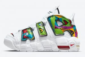 Latest Nike Air More Uptempo GS Peace Love Swoosh 2021 For Sale DM8155-100