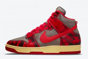 Latest Nike Dunk High 1985 SP Acid Wash University Red/Chile Red 2021 For Sale DD9404-600