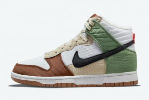 Latest Nike Dunk High Toasty Summit White/Black-Oil Green-Rattan 2021 For Sale DN9909-100