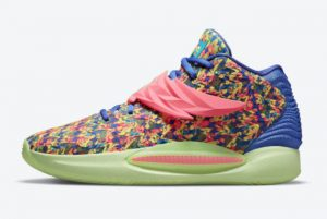 Latest Nike KD 14 Colorful Print Wing Strap 2021 For Sale DO6902-400