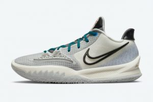 Latest Nike Kyrie Low 4 Off-White/Teal Blue-Orange 2021 For Sale CW3985-004