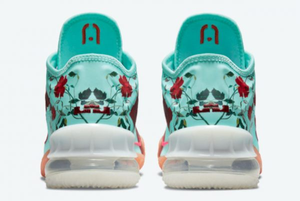 Latest Nike LeBron 18 Low Floral Psychic Blue 2021 For Sale CV7562-400-3