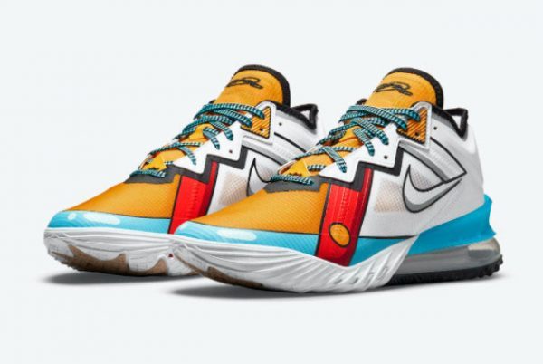 Latest Nike LeBron 18 Low Stewie Griffin 2021 For Sale CV7562-104-2