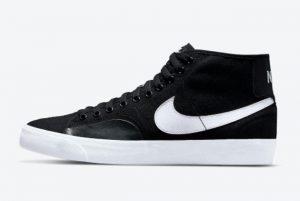 Latest Nike SB Blazer Court Mid Black/White 2021 For Sale DC8901-001