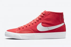 Latest Nike SB Blazer Court Mid Red/White 2021 For Sale DC8901-600