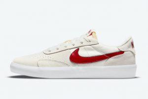 Latest Nike SB Heritage Vulc Gym Red Summit White/Summit White-White-Gym Red 2021 For Sale CD5010-103