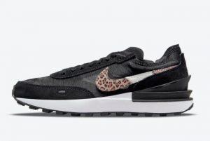 Latest Nike Waffle One Leopard Black/Multi Color-Black 2021 For Sale DJ9776-001