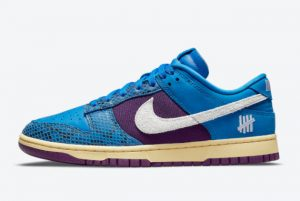 Latest Undefeated x Nike Dunk Low 5 On It Grey Fog/Imperial Blue 2021 For Sale DH6508-400