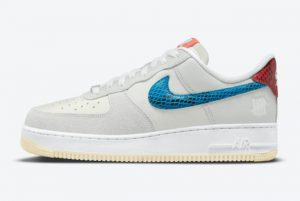 Latest Undefeated x Nike Air Force 1 Low 5 On It Grey Fog/Imperial Blue 2021 For Sale DM8461-001