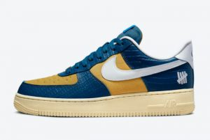 Latest Undefeated x Nike Air Force 1 Low Dunk vs AF1 Blue Croc 2021 For Sale DM8462-400