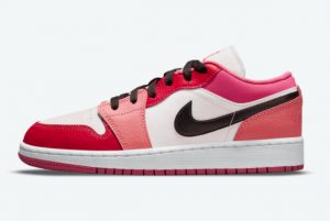 New Air Jordan 1 Low GS Pink Red 2021 For Sale 553560-162