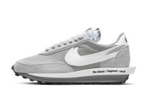 New Fragment x Sacai x Nike LDWaffle Light Smoke Grey 2021 For Sale DH2684-001