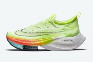 New Nike Air Zoom Alphafly NEXT% Barely Volt Hyper Orange-Dynamic Turquoise-Black 2021 For Sale CI9925-700