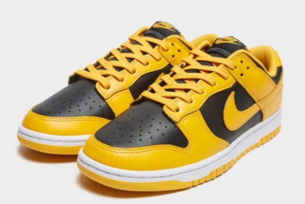 New Nike Dunk Low Goldenrod Black/Goldenrod-White 2021 For Sale DD1391-004-2