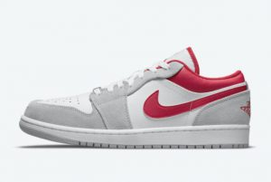 Cheap Air Jordan 1 Low White Grey-Red 2021 For Sale DC6991-016