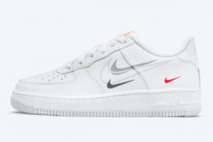 Cheap Nike Air Force 1 GS Multi Swoosh 2021 For Sale DO6486-100