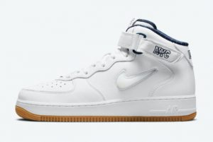 cheap nike air force 1 mid nyc white midnight navy gum yellow 2021 for sale dh5622 100 300x201