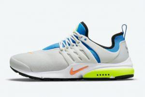 Cheap Nike Air Presto WMNS White Blue-Volt-Orange 2021 For Sale DO6692-001