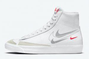 Cheap Nike Blazer Mid GS Multi Swoosh 2021 For Sale DO6487-100