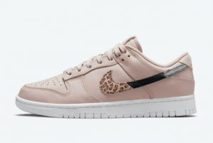 Cheap Nike Dunk Low Animal Print Dusty Pink 2021 For Sale DD7099-200