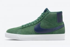 Cheap Nike SB Blazer Mid Noble Green Noble Green Midnight Navy 2021 For Sale 864349-302