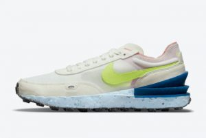 Cheap Nike Waffle One Crater White/Volt-Blue 2021 For Sale DJ9640-100