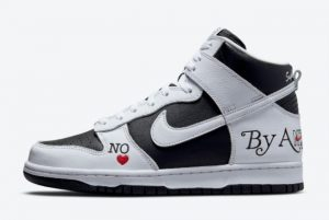 cheap supreme x nike sb dunk high by any means black white varsity red 2021 for sale dn3741 002 300x201