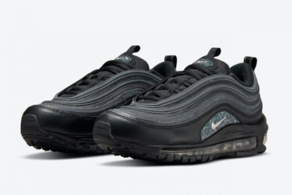 New Nike Air Max 97 Black/Grey/Emerald Green 2021 For Sale DH0558-001-1
