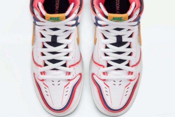 New Gundam x Nike SB Dunk High Unicorn White Amarillo 2021 For Sale DH7717-100-4