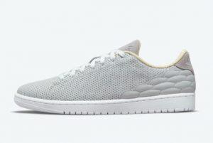Latest Air Jordan 1 Centre Court Neutral Grey Neutral Grey White 2021 For Sale DJ2756-002