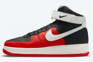 Latest NBA x Nike Air Force 1 High 75th Anniversary Black Chile Red-White-Sail 2021 For Sale DC8870-001